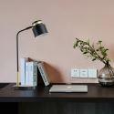 Lampe de table moderne à LED en fer D28cm pour chambre à coucher salle d'étude