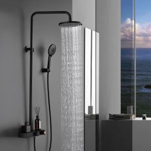 Colonne de douche avec douchette à trois fonctions pour salle de bains, 3 modèles