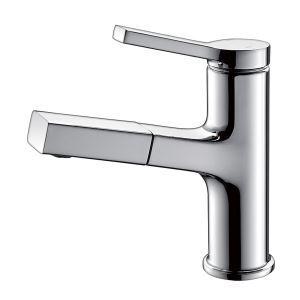 Robinet de lavabo moderne extractible H18,7cm pour salle de bains, 4 modèles