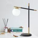 Lampe à poser LED en fer verre lampe de chevet moderne pour chambre