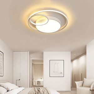Plafonnier blanc à trois anneaux LED pour salon couloir cuisine, 3 modèles