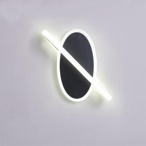Applique murale LED couleur noire pour salon couloir chambre à coucher