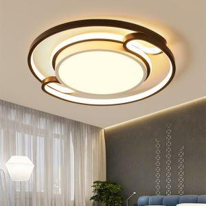 Plafonnier LED design moderne D42cm pour salon chambre à coucher