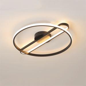 Plafonnier rond à LED moderne abat-jour en acrylique pour salon chambre à coucher