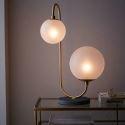 Lampe de table en fer verre moderne H63cm pour salon chambre à coucher