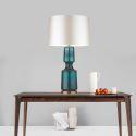 Lampe à poser moderne en verre tissu H65cm pour salon chambre à coucher