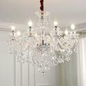 Lustre de cristal luxe à 4 modèles pour salon chambre, style européen