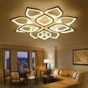 Lampe à LED en acrylique plafonnier en forme pétale pour salon chambre à coucher