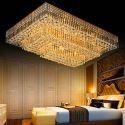 Plafonnier LED minimaliste moderne à forme rectangle pour salon hall d'hôtel