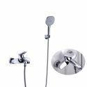 Mitigeur de baignoire chromé moderne en cuivre pour salle de bains
