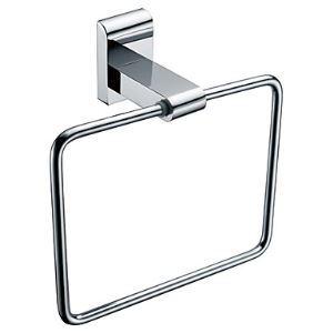 Anneau porte-serviette chrome L 18 cm montage forage pour salle de bains