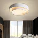 Plafonnier LED en aluminium acrylique pour salon chambre à coucher, blanc/gris