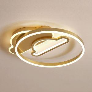 Plafonnier LED rond double nuage en aluminium acrylique pour chambre à coucher