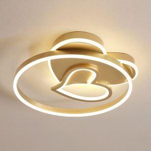 Plafonnier LED rond double cœur en aluminium acrylique D50cm