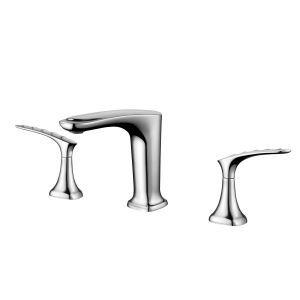 Robinet de vasque eau froide chaude H14,5cm pour salle de bains, 3 modèles
