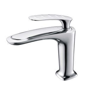 Robinet de lavabo en cuivre H18,5cm pour salle de bains, 3 modèles