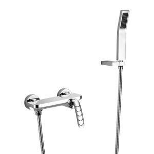 Robinet de baignoire avec douchette en cuivre pour salle de bains, 3 modèles