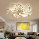 Plafonnier blanc LED forme irrégulière géométrique pour salon chambre à coucher