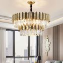 Suspension nordique en métal verre à 18 lampes L80cm pour salon hôtel restaurant