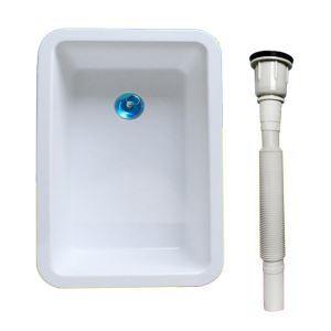 Évier moderne en plastique avec tuyau de drainage pour cuisine
