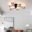 Plafonnier LED en métal abat-jour en verre pour salon chambre couloir, 6/8/10 lampes