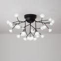 Lustre délicat à LED en métal verre pour salon chambre salle à manger, 27/36/45 lampes