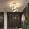 Plafonnier LED moderne en métal or H48cm pour salon salle d'étude couloir