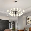 Lustre LED en métal acrylique à 40 lampes G4 120W pour salon boutique café