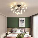 Lustre LED en métal acrylique luminaire décoratif pour salon chambre salle à manger, 27/36 lampes
