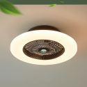 Plafonnier ventilateur LED dimmable à 3 couleurs D58cm 48W 4080 Lumen pour salon chambre