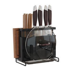 Support de rangement multifonctionnel pour ustensiles de cuisine, 4 couleurs disponibles