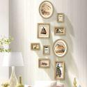 Kit cadre photo en bois massif à 9 pièces style A/B décoration murale