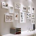 Kit cadre photo décoratif en bois massif à 12 pièces style A/B