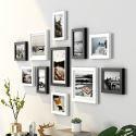 Cadre photo en bois à 11 pièces 9 modèles décoration murale pour salon chambre