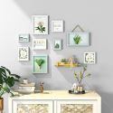 Kit cadre photo décoratif en bois à 9 pièces pour salon chambre, 6 modèles