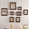 Set cadre photo décoratif en bois à 8 vues pour salon bureau