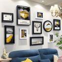 Cadre photo en bois à 10 vues style moderne décoration murale pour salle chambre