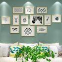 Set cadre photo en bois massif à 12 pièces 10 modèles pour salon chambre à coucher