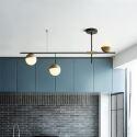Lustre moderne simple à 3/9 lampes pour salon cuisine suspension LED