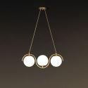 Suspension LED moderne simple abat-jour en verre pour salon boutique,3/5/7 lampes