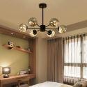Suspension LED en verre métal moderne délicate pour salon chambre salle d'étude