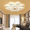 Plafonnier LED blanc en métal acrylique luminaire à pétale pour salon chambre cuisine