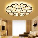 Lampe de plafond LED en métal acrylique pour salon chambre à coucher, Noir/Blanc