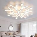 Plafonnier LED blanc abat-jour en acrylique forme ramure pour salon chambre