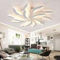 Luminaire intérieur à LED en métal acrylique plafonnier blanc moderne