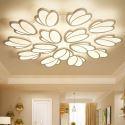 Plafonnier LED moderne blanc en fer acrylique pour salon chambre à coucher