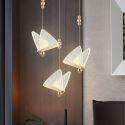 Suspension LED en fer acrylique luminaire décoratif papillon pour salon grenier