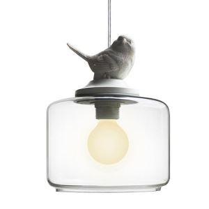 Suspension en métal petit oiseau abat-jour en verre pour salon chambre, 1/3 lumières