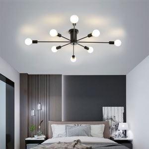 Lustre moderne en métal L87cm or/noir E27 sans ampoule