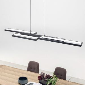 Suspension LED en aluminium acrylique fil réglable pour salon chambre bureau, taille S/M